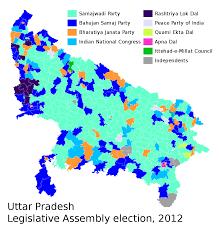 assembly row map uttar pradesh legislative assembly election 2012