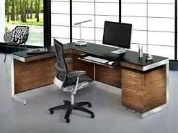 Computer Desk L Shape Office Furniture L Shaped Desk Orange Grey Color Home Unique In