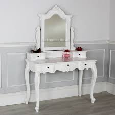 Antique Vanity Table With Mirror And Bench Mirror Antique Dressing Table With Triple Mirror In Bedroom With