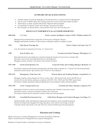 Sample Of General Resume by Download Safety Manager Resume Haadyaooverbayresort Com