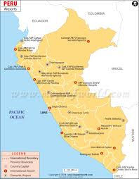 Map Of Colombia South America by Peru Airports Airports In Peru Map