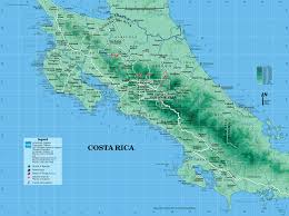 Germany Physical Map by Large Detailed Road And Physical Map Of Costa Rica Costa Rica