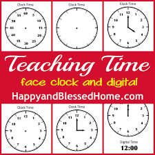 Time Clock Worksheets Tell Time Preschool Learning Happy And Blessed Home