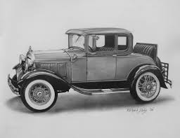 8x10 resume paper finely detailed originals prints of paintings in various media 1930 ford model a pencil illustration 9