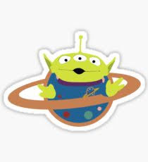 toy story alien stickers redbubble