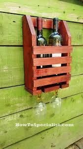 how to build a wine shelf with glass rack howtospecialist how