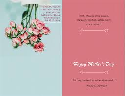 mothers day cards mother s day card with poppy flower quarter fold office templates