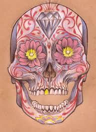 flower sugar skull by mojoncio on deviantart