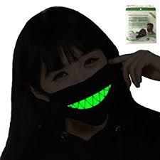 cool masks mask zwzcyz masks cotton cool green glow teeth