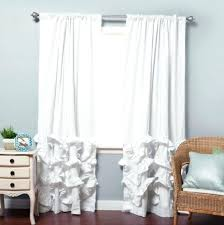 White Blackout Curtains 96 White Ruffle Blackout Curtains Teawing Co