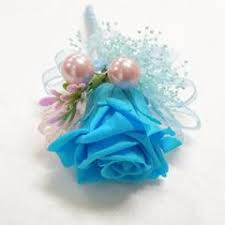 turquoise corsage wrist corsage wc13 pink turquoise endura flora
