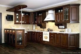 Walnut Kitchen Designs Walnut Kitchen Cabinets Modern Limestone Floor Marble Walnut