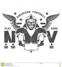 american football play hard prints for shirt emblems logo tattoo