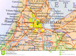 Map Od Geographic Map Of European Country Netherlands With Amsterdam