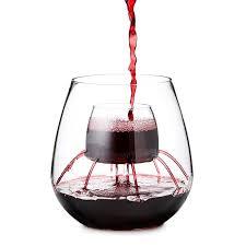 stemless aerating wine glass set wine tumblers