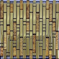 mosaic tile backsplash interlocking stainless steel u0026 crystal