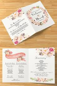 Order Wedding Programs 40 Best Wedding Order Of Service Programs Images On Pinterest