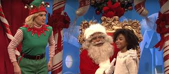 snl u0027 santa gets kids u0027 tough questions about franken moore trump