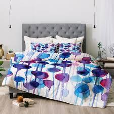 cmykaren abstract watercolor duvet cover deny designs