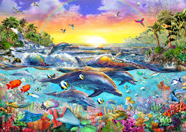 tropical fish wallpaper sea life wall murals wallsauce usa tropical cove mural wallpaper
