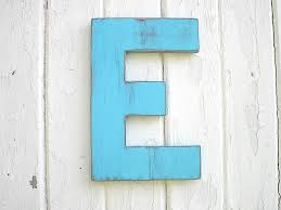 shabby chic wooden letters 12 inch block style blue letter e