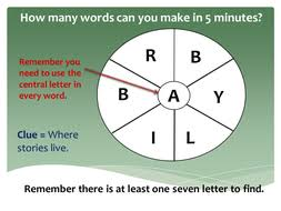 english word wheels warm up game 7 letters by mrichmond