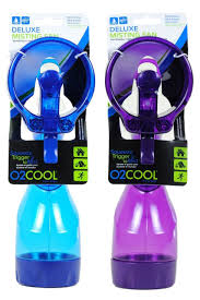 battery operated misting fan o2cool deluxe battery operated handheld water misting fan