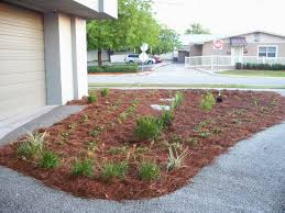 landscape landscaping with rocks and mulch home decorating