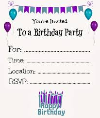 new free online printable birthday party invitations birthday
