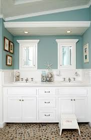 Nautical Bathroom Mirrors by Bahtroom Big Vanity Under Twin Mirror Beside Wall Lamp And Crab