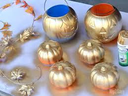 Halloween And Fall Decorations - halloween dollar store craft halloween pumpkin centerpiece