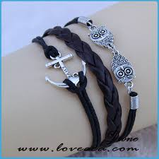 adjustable braided leather bracelet images Leather rope bracelet china c a international co ltd jpg