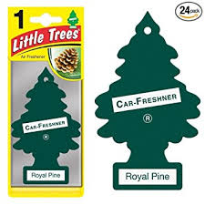 trees car air fresheners royal pine scent 24