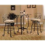 amazon com bar table with wine rack bronze u0026 oak finish kitchen