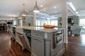 painted kitchen island kitchen island with dishwashers transitional kitchen