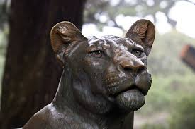 lioness statue bronze lioness up clippix etc educational photos for