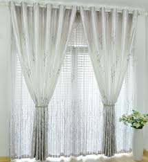 Curtains Ideas Inspiration Decorations White And Patterned Curtain Design With