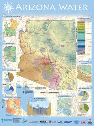Arizona Counties Map by Arizona Water New Arizona Water Map Poster Arizona Pinterest
