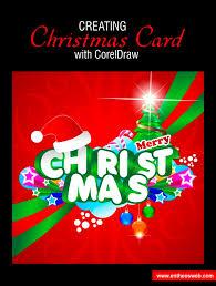 membuat poster dengan corel draw x7 christmas card design in corel draw
