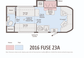 Type B Motorhome Floor Plans The Winnebago Fuse Ignites Winnebagolife