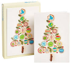 unicef tree made of branches u0026 wood christmas boxed card