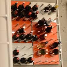 wall mounted wine storage racks stact electric orange u2013 stact