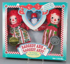 109 14627 holiday raggedy ann and andy doll set 75th and 80th