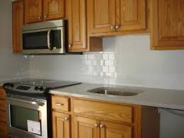 Painted Backsplash Ideas Kitchen Best 20 Kitchen Tile Backsplash With Oak Ideas On Pinterest