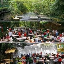 escudero using the falls restaurant devparade