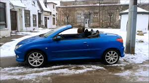 used peugeot 206 cc 206cc indigo blue youtube