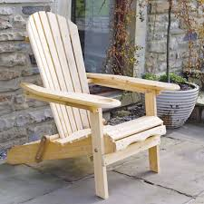 Adirondack Outdoor Furniture Wooden Arm Chair Lounger With Pull Out Leg Rest Black