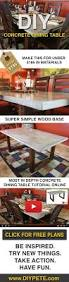 How To Make Homemade Concrete best 20 concrete table ideas on pinterest u2014no signup required