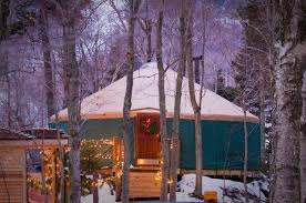 Yurt House by Fine Dining On The Mountain Ledgewood Yurt Jackson House