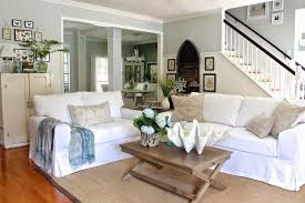 Brown And White Home Decor White Slipcovered Couches Best Home Furniture Decoration